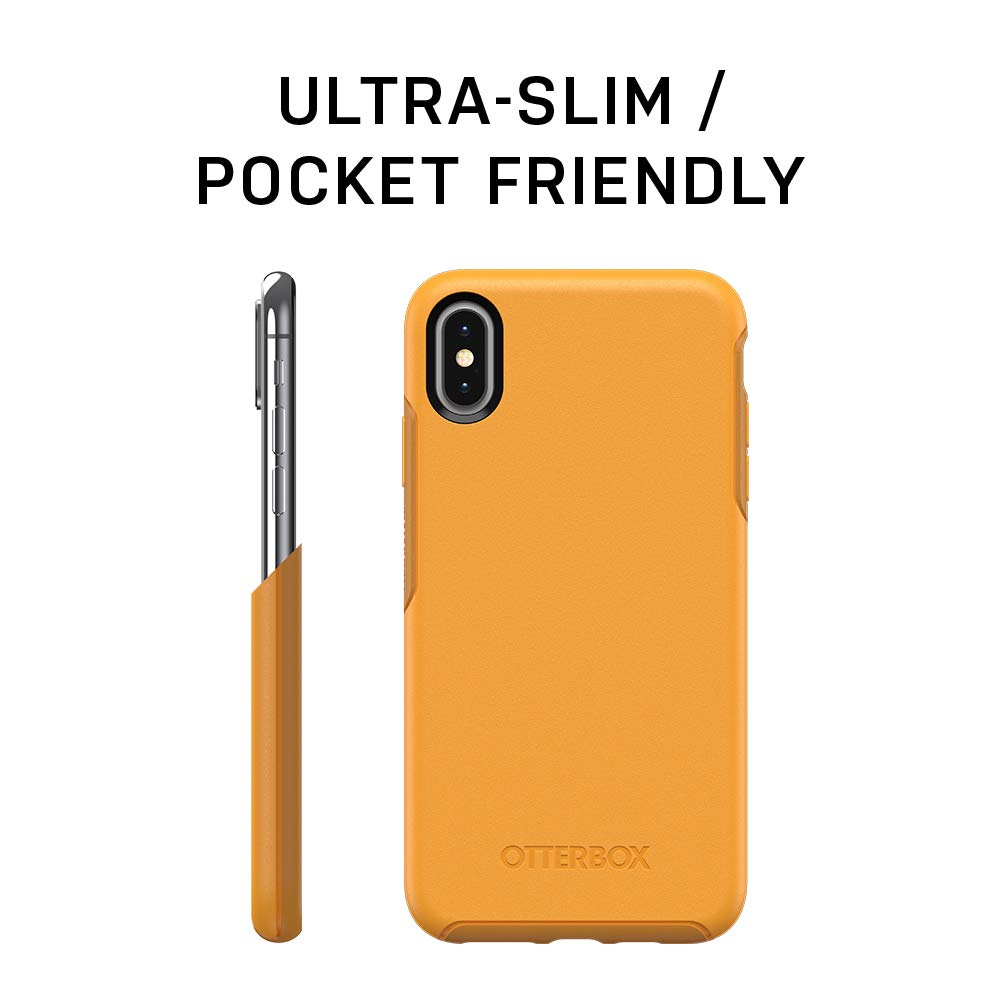 OtterBox Symmetry Series Case for iPhone Xs & iPhone X - Retail Packaging - Aspen Glean (Citrus/Sunflower)