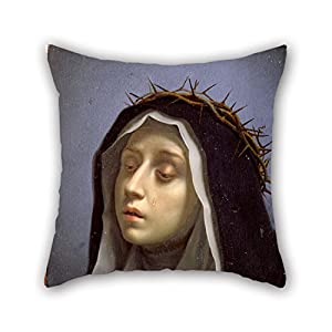 Pillow Cases Of Oil Painting Dolci, Carlo - St. Catherine Of Siena 18 X 18 Inches / 45 By 45 Cm,best Fit For Chair,sofa,teens Girls,home,father,deck Chair 2 Sides