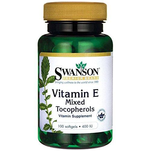 4 opinioni per Swanson- Vitamina E 400 IU, 100 Capsule- D-Alfa-Tocoferolo + Tocoferoli Misti