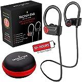 TRONIXTAR Wireless Sports Earphones – Running Bluetooth Headphones with 12 Hours Battery & Memory-Hooks, MAXX Play TR-908 Flexible Ear Hooks, IPX7 Waterproof, Sweatproof Earbuds & 2 Year Warranty