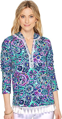 Lilly Pulitzer Women's UPF 50+ Harmon Hoodie Multi The Swim XX-Small by Lilly Pulitzer