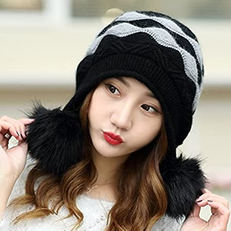DIDIDD Hat-Womens Winter and Autumn Hats Fashion Warm Knit Cap Children Cashmere Hat