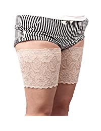 YULOONG Thigh Bands Womens Anti Chafing Sexy Lace Thigh Elastic Work Out Compression Sleeve