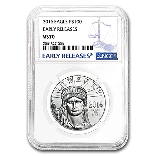 2016 1 Oz Platinum American Eagle Ms 70 Ngc  Early Releases  1 Oz Ms 70 Ngc
