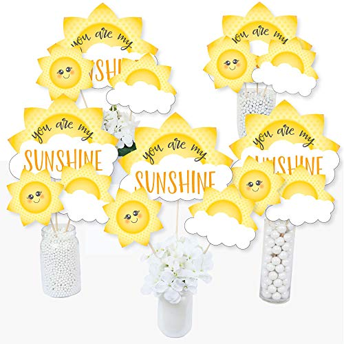 You are My Sunshine - Baby Shower or Birthday Party Centerpiece Sticks - Table Toppers - Set of 15 ()