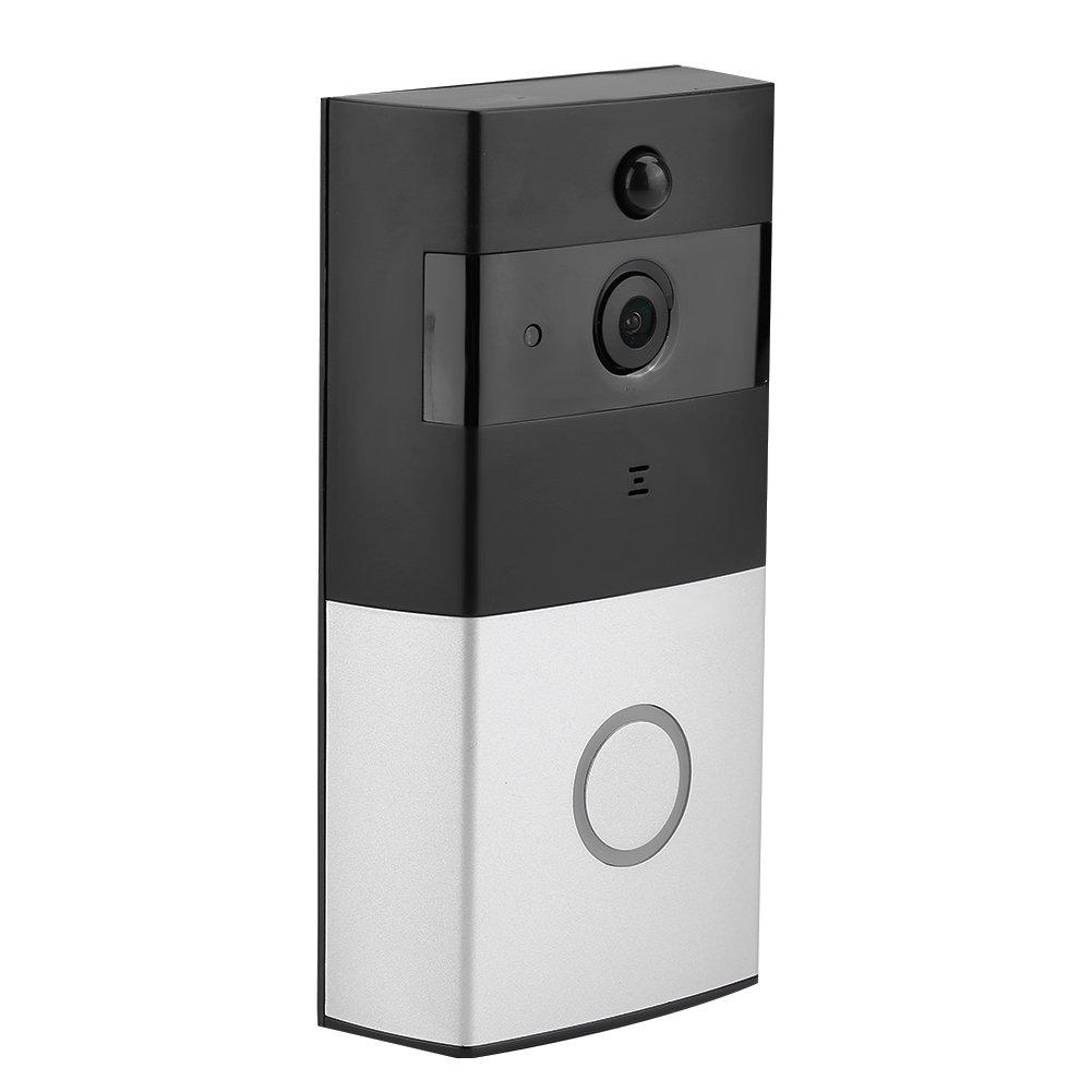 WiFi HD Video Türklingel,1 Million HD 166 ° großer Betrachtungswinkel,mit Agile Motion Detection + Extremer Informationsschub (Smart Anti-Theft) (Schwarz+Silber)