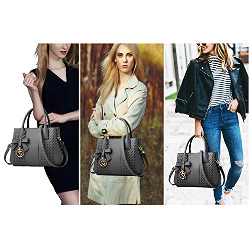 Purses and Handbags for Women Fashion Ladies PU Leather Top Handle Satchel Shoulder Tote Bags 2