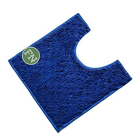 FindNew Contour Bath Rug, Soft Shaggy U-shaped Toilet Floor Mat Bathroom Carpet, 19.5 X 19.5 inches (Bathroom Rugs Contour)