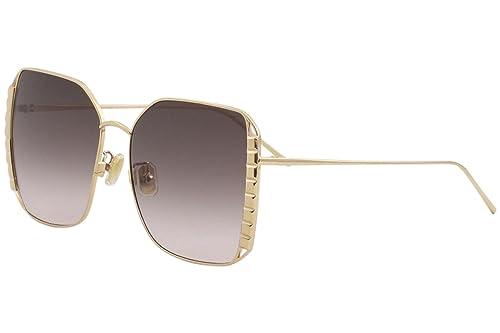 Boucheron BC0042S 003, Gafas de Sol para Mujer, Dorado (003-Gold/Brown), 58