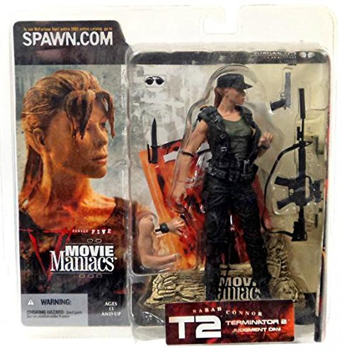 Movie Maniacs Series 5 Terminator 2 Judgment Day Sarah Connor with Hat Variant Action Figure By Mcfarlane Toys