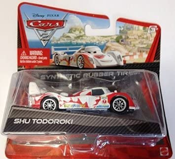 Exclusive Movie Die-Cast Vehicle 1:55 Scale Disney//Pixar Cars 2 Shu Todoroki with Synthetic Rubber Tires