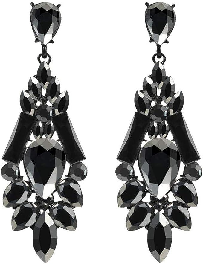 Haxikocty Ladies Long Earrings Simple Fashion Pendant Earrings Silver Size Butterfly Diamond Earrings Ladies Jewelry