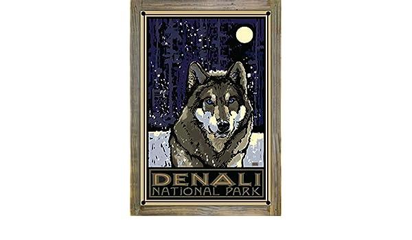Northwest Art Mall Minnesota Sled Dog Artwork by Joanne Kollman 11-Inch by 17-Inch
