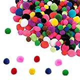 Play Kreative Assorted Colorful Pom Poms - Bulk Tiny Pom Poms Craft Supplies for DIY Creative Arts N Crafts Decorations. Perfect for Classroom Projects and Hobby Supplies, Birthday Craft Activity