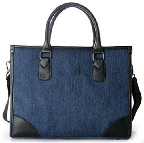 Shikyou  2Way Business Shoulder Bag 14 Inch Laptop Messenger Bag  Blue