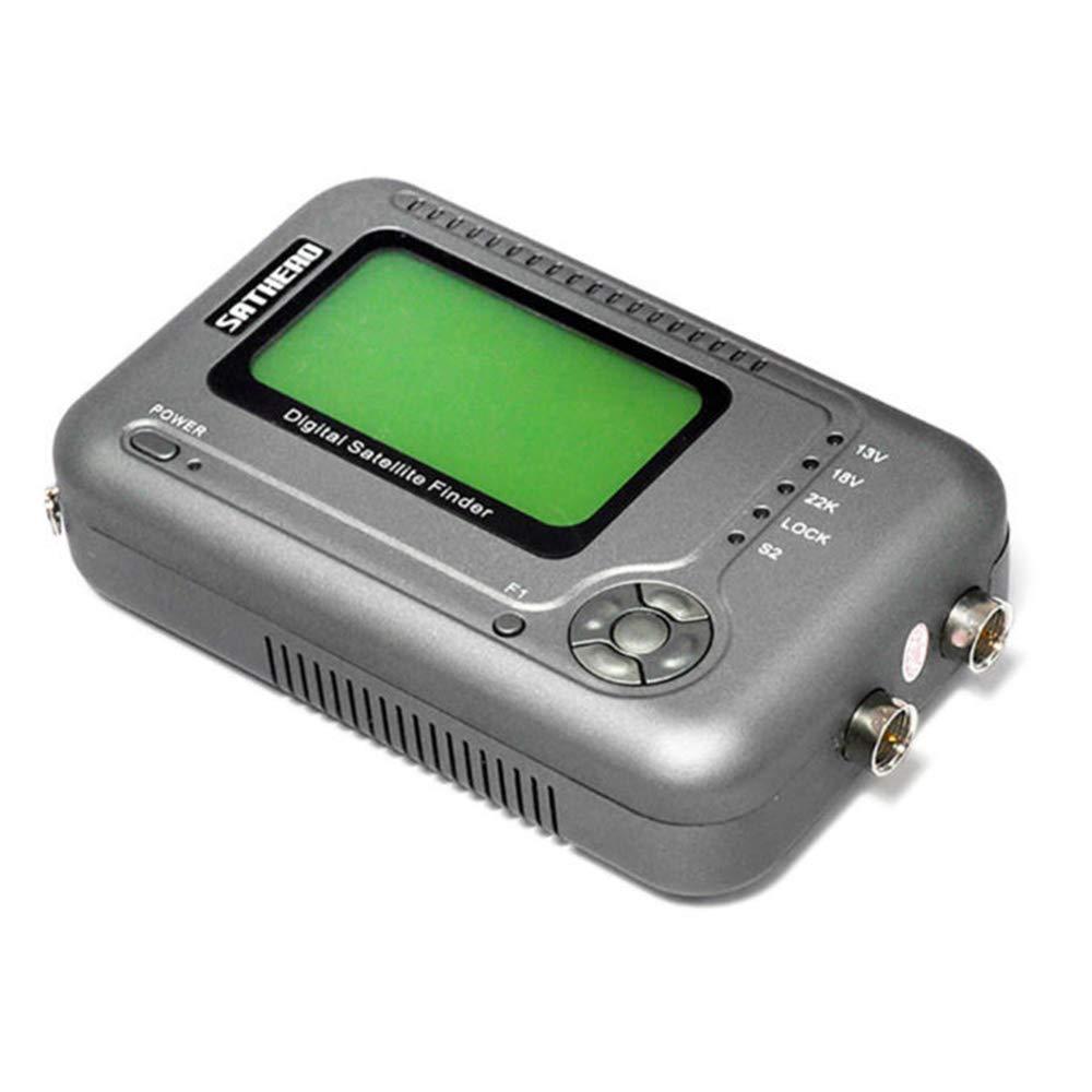 Festnight SATHERO SH-200HD Global Universal TV Signal Finder Meter DVB-S/S2 HD Digital Meter MPEG-4 22KHz 13V/18V with 2.5-Inch LCD Display 2000mAh Battery US Plug by Festnight