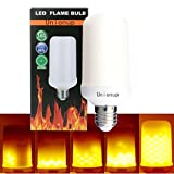 Unionup LED Flame Effect Fire Light Bulbs,2 modes Creative with Flickering Emulation Lamps,Simulated Nature Fire in Antique Lantern Atmosphere for Holiday Hotel/ Bars/ Home Decoration/ Restaurants