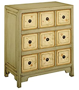 Elegant Stein World Furniture Apothecary Style Accent Chest, Light Green, Antique  White