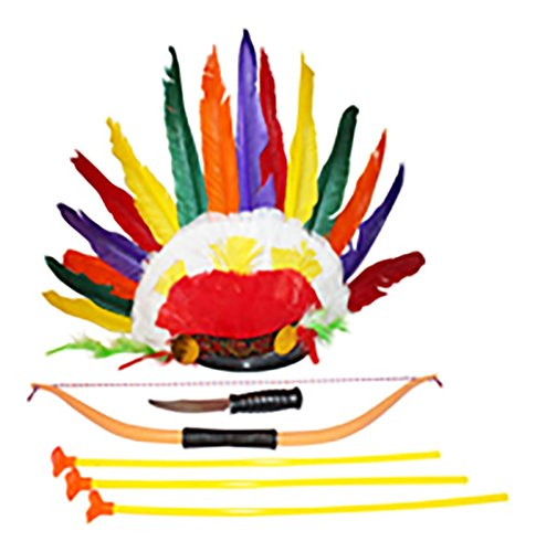 American Headdress Costume Accessories 6 Piece