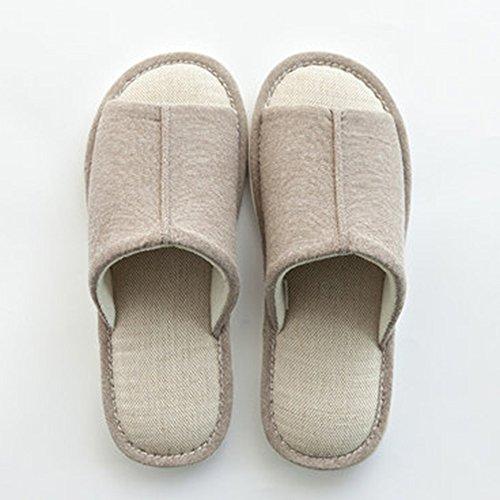 Cómodo Cuatro estaciones del hogar de piso de madera piso zapatillas Parejas suave fondo suave zapatillas zapatillas (4 colores opcional) (tamaño opcional) Aumentado ( Color : A , Tamaño : 37-38(36-37 B