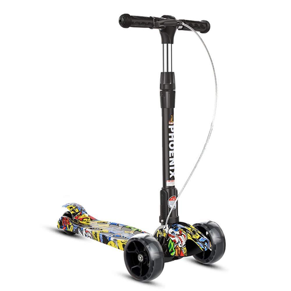 suministramos lo mejor A YANG Scooter para Niños Niños Niños con Parpadeo En La PU, Las Ruedas Ajustan La Altura.para 2-14 Años,A  barato