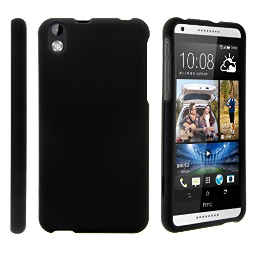 TurtleArmor | Compatible with HTC Desire 816 Case | Desire 8 Case [Slim Duo] Two Piece Hard Cover Slim Snap On Case on Black - Black (Virgin Mobile 816 Cases)