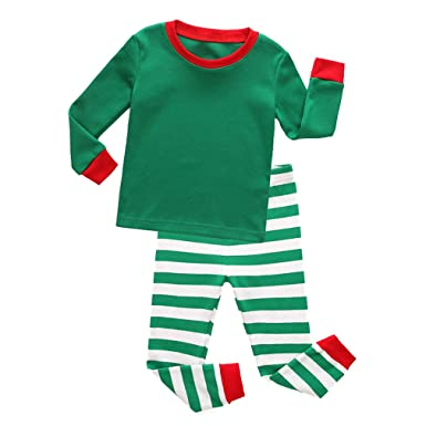 dbfb23ee2c Hibote Boys Striped Pajamas Girls Christmas Pajamas Vetement Enfant Fille Pyjamas  Kids Christmas Pijamas for Girls and Boys Homewear: Amazon.co.uk: Clothing