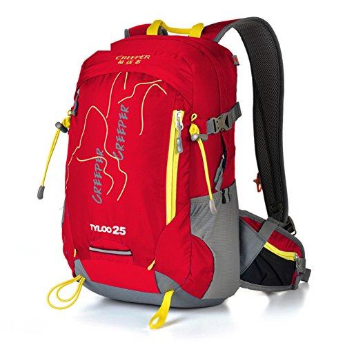 Escursionismo zaino/pacchetto ciclistico/Impermeabile e traspirante ultra leggero-rosso 25L