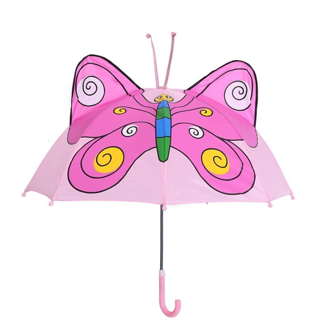 CQSMOO resiste al Vento Ombrello Pieghevole Fumetto Creativo del Ragazzo Femminile dell'asilo del Bambino piegante dell'ombrello del Bambino by (colore   C)