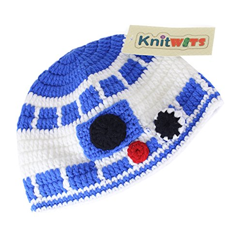 Knitwits Blue Droid Crochet Beanie (Small) (R2d2 Hat)