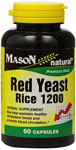Mason Vitamins Red Yeast Rice 1200, 60 Capsules Bottle