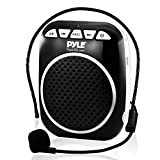 Pyle Portable Mini PA Speaker System with Headset-Microphone, Voice Amplifier, Built-in Rechargeable Battery, and Hands-free Waist-Band - Ideal for Karaoke Teacher Coach - PWMA55