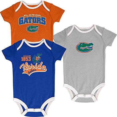 - Pro Edge NCAA Newborn & Infants' 3-Pack Graphic Bodysuits UF Florida Gators (Since 1853, 12 Months)