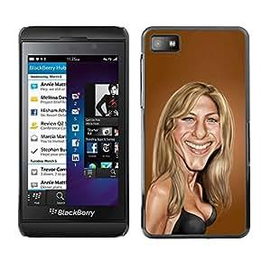 FlareStar Colour Printing Sarah Anniston Brown Caricature Movie cáscara Funda Case Caso de plástico para Blackberry Z10