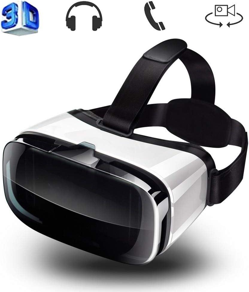 WJH9 VR Auricular, Virtual Reality Headset, Gafas 3D, VR Gafas, Gafas de Realidad Virtual de Regalo con iPhone y Android teléfono Huawei de 4,0-6,0 Pulgadas,Blanco: Amazon.es: Hogar