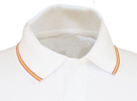Pi2010 – Polo Patrulla Águila para Hombre, Color Blanco, Bandera ...
