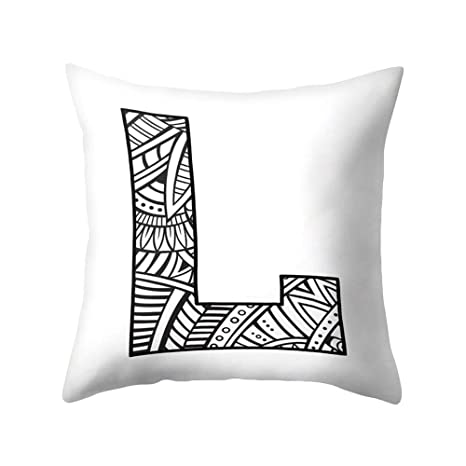 SEGRJ 1 Unid Funda de Cojín Cartas de Moda Diseño de ...