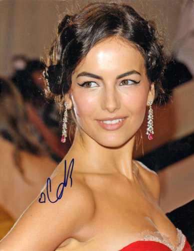 Camilla Belle Autographed 11x14 Signed Ruby Earrings Photo AFTAL -  Autograph Pros, LLC