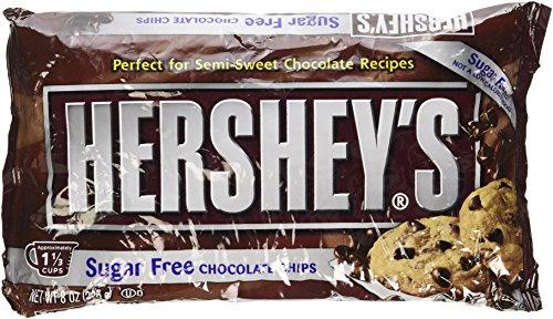 Hershey's Sugar Free Semi-Sweet Baking Chips, 8-Ounce Bag (Pack of 3)