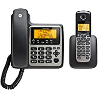 Motorola DECT 6.0 Corded Base Phone with Cordless Handset and Answering System M802C