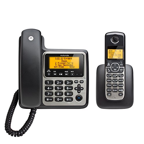 Motorola DECT 6.0 Corded Base Phone with Cordless Handset an