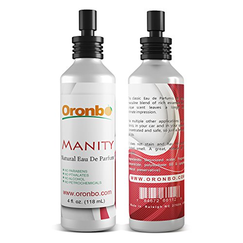 Manity Eau De Parfum 4 Oz Intimate Spray (for Men) Long Lasting Natural Product for Your Body and Private Areas No Alcohol