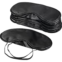 Mudder 10 Pack Eye Mask Shade Cover Blindfold Travel Sleep Cover with Nose Pad, Black