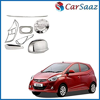 Carsaaz Chrome Accessories Combo/Pack for Hyundai Eon (VX): Amazon