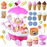 DIY Ice Cream Cart Pretend Play Set, Funny Toys for Toddler Boys Girls AHZZY