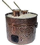 Authentic TURKISH ARABIC COPPER ELECTRIC HOT SAND COFFEE MAKER HEATER MACHINE 220V