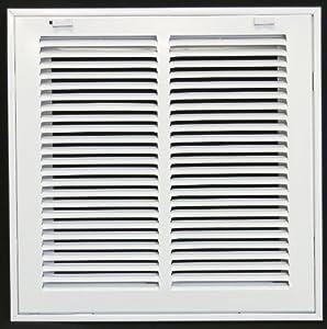 12 x 12 steel return air filter grille for 1 filter removable face door hvac duct cover. Black Bedroom Furniture Sets. Home Design Ideas