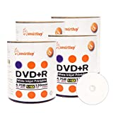 Smart Buy 400 Pack DVD+R 4.7gb 16x White Printable Inkjet Blank Media Record Disc, 400 Disc 400pk