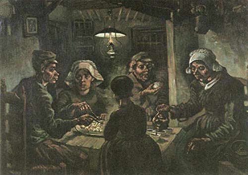 The Van Eaters Vincent Potato Gogh (Home Comforts Laminated Poster Gogh, Vincent Willem Van - The Potato Eaters [1] Vivid Imagery Poster Print 24 x 36)