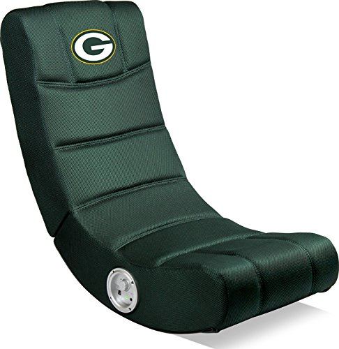 Imperial Officially Licensed NFL Furniture: Ergonomic Video Rocker Gaming Chair with Bluetooth, Green Bay Packers for $<!--$123.66-->